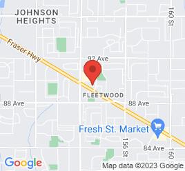 Google Map of 15291+Fraser+Highway%2CSurrey%2CBritish+Columbia+V3R+3P3