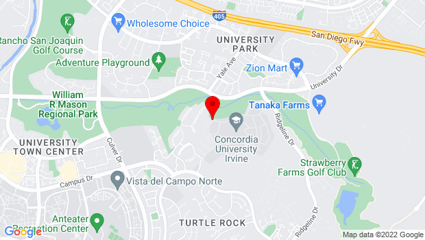 Google Map of 1530 Concordia West, Irvine, CA