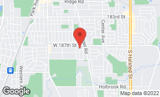Map of 1530 Carson Drive HOMEWOOD, IL 60430