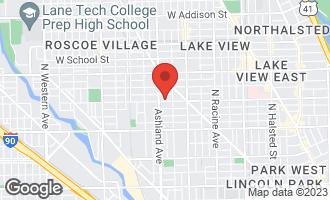 Map of 1530 West Wellington Avenue CHICAGO, IL 60657