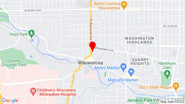 Google Map of 1532 Wauwatosa Avenue, Milwaukee, WI 53213