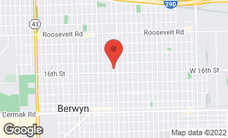 Map of 1533 Elmwood Avenue BERWYN, IL 60402