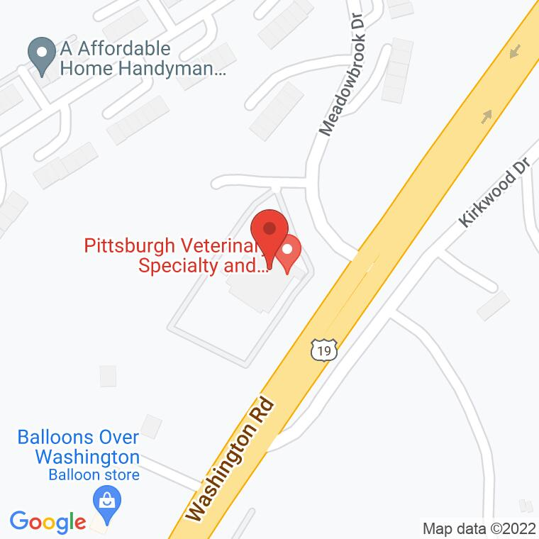 Google Map of 1535 Washington Rd, Washington, PA 15301, 1535 Washington Rd, Washington, PA 15301