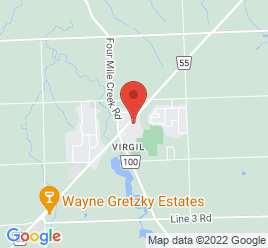 Google Map of 1537+Niagara+Stone+Road%2CVirgil%2COntario+L0S+1T0