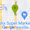 Google Map of 1538 NW 6th St+Gainesville+FL+32601