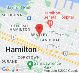 Google Map of 154+Cannon+St+East%2CHamilton%2COntario+L8L+0A2