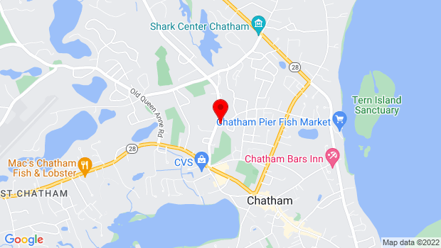 Google Map of 154 Crowell Rd., Chatham, MA