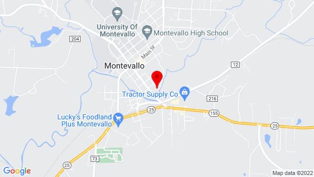 Google Map of 154 Vine Street, Montevallo, AL 35115