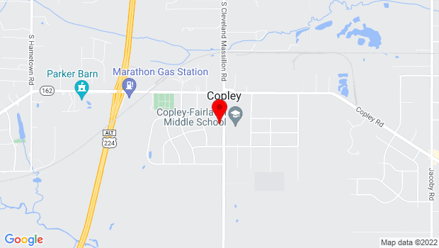 Google Map of 1540 S. Cleveland-Massillon Rd., Copley, OH 44321