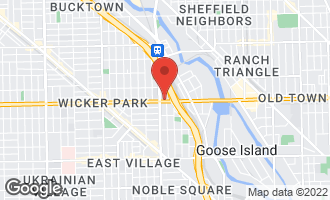 Map of 1540 West North Avenue Chicago, IL 60642