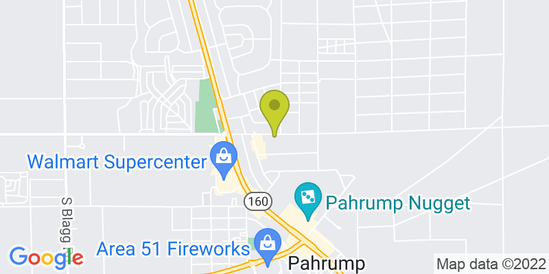 Google Map of 1541 E. Basin Avenue, Pahrump NV 89048