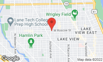 Map of 1545 West Roscoe Street Chicago, IL 60657
