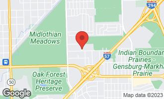 Map of 15481 Hamlin Avenue MARKHAM, IL 60428