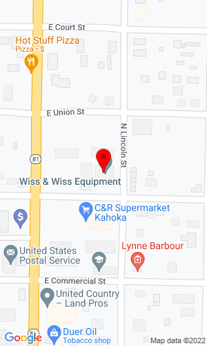 Google Map of Wiss & Wiss Equipment, Inc 155 East Chestnut, Kahoka, MO, 63445-1213