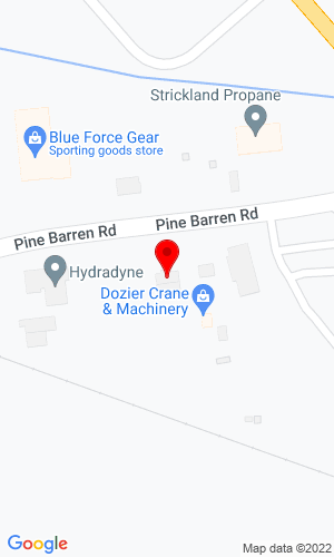 Google Map of Dozier Crane 155 Pine Barren Road, Pooler, GA, 31322