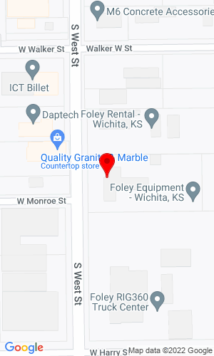 Google Map of Foley Equipment 1550 S. West Street , Wichita, KS, 67213