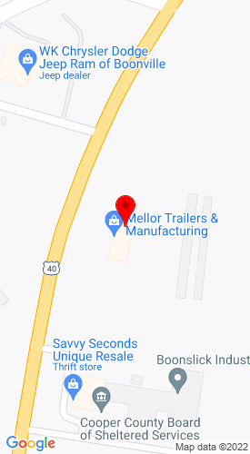 Google Map of Mellor Trailers and Manufacturing 1550 West Ashley Road, Boonville, MO, 65233