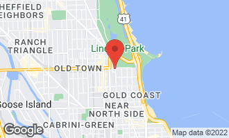 Map of 1550 North Clark Street #1002 Chicago, IL 60610