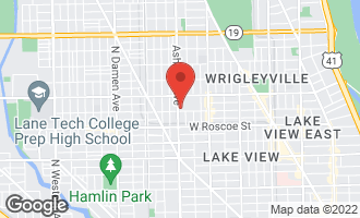 Map of 1550 West Cornelia Avenue #401 CHICAGO, IL 60657
