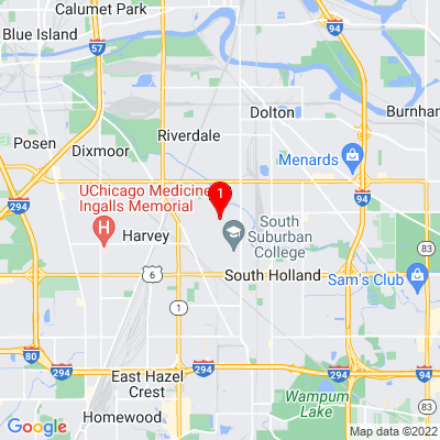 Google Map of 15510 Wentworth Ave South Holland, IL 60473