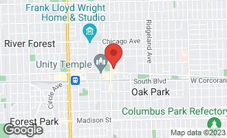 Map of 156 North Oak Park Avenue 3B OAK PARK, IL 60301