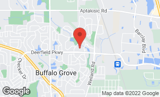 Map of 156 White Branch Court BUFFALO GROVE, IL 60089