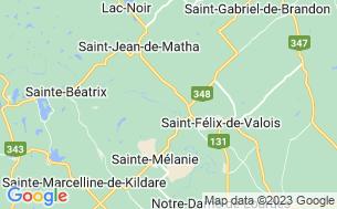 Map of Les Tipis Du Sommet