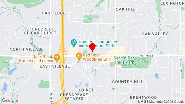 Google Map of 15700 W 87th St Pkwy, Lenexa, KS 66219
