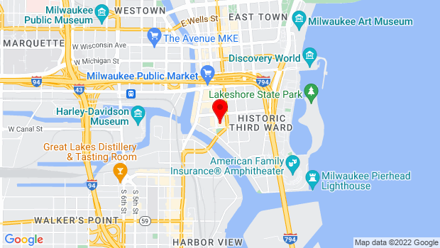 Google Map of 158 N Broadway, Milwaukee, WI 53202