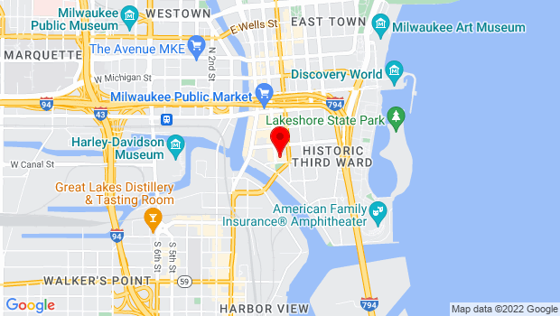 Google Map of 158 N. Broadway, Milwaukee, WI 53202