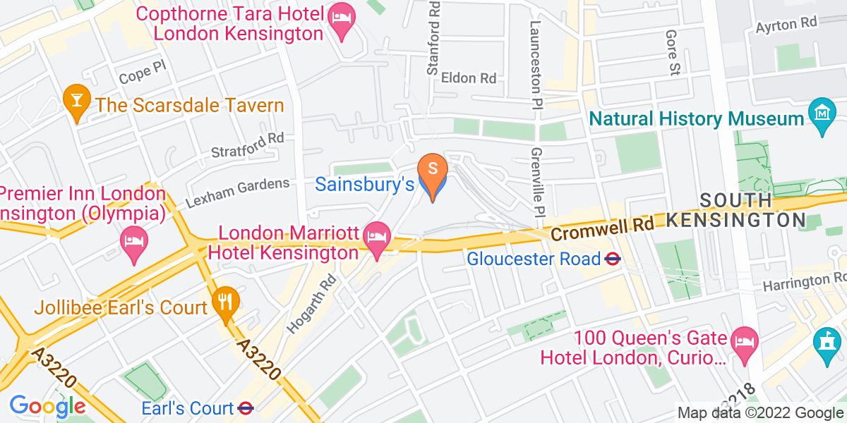Google Map of 158a Cromwell Road London SW7 4EJ