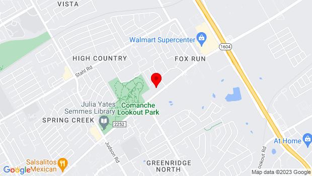 Google Map of 15911 Nacogdoches Rd., Bldg. 2, San Antonio, TX 78247