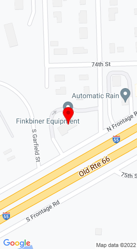 Google Map of Finkbiner Equipment Co. 15W400 North Frontage Road, Burr Ridge, IL, 60527
