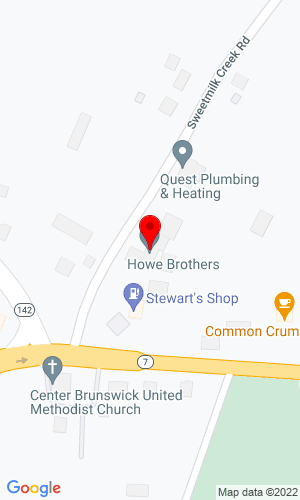 Google Map of Howe Truck & Trailer 16 Sweetmilk Creek Road, Troy, NY, 12180