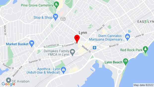 Google Map of 16 City Hall Sq, Lynn, MA 01901