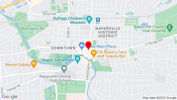 Google Map of 16 W Jefferson Avenue, Naperville, IL 60540