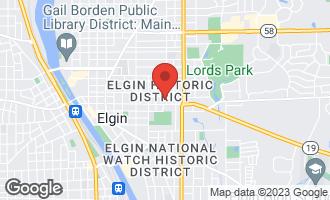 Map of 16 Hill Avenue ELGIN, IL 60120