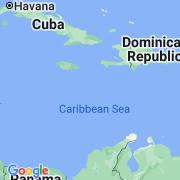 Le thème Caraïbes sur notre carte histoire-géo