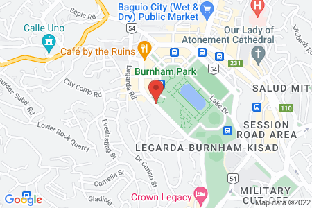 Map of Baguio Burnham Suites Hotel