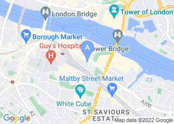 Map for Southwark Council Offices
