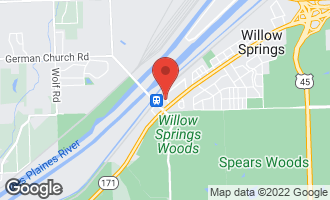 Map of 160 Market Street WILLOW SPRINGS, IL 60480