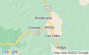 Map of Willits KOA