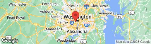Map of 1600 CLARENDON BOULEVARD W209 ARLINGTON, VA 22209