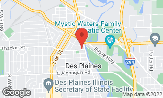 Map of 1600 East Thacker Street #405 DES PLAINES, IL 60016
