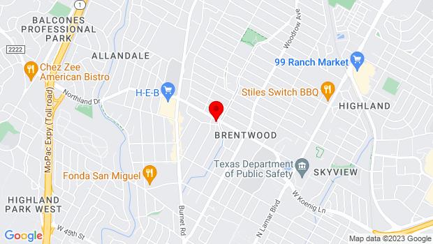 Google Map of 1601 West Koenig Lane, Austin, TX 78756