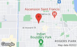 Map of 1601 Brummel Street EVANSTON, IL 60202