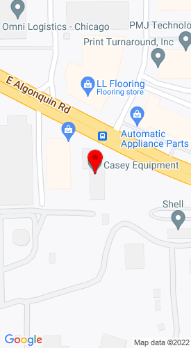Google Map of Casey Equipment Company 1603 East Algonquin Road, Arlington Heights, IL, 60005
