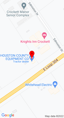 Google Map of Houston County Equipment 1604 S Loop 304, Crockett, TX, 75835