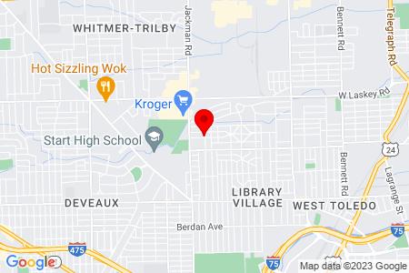 Google Map of 1604 Hagley Rd Toledo, OH 43612