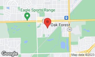 Map of 16041 Lorel Avenue OAK FOREST, IL 60452